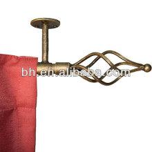 2012 haste da cortina do metal da extremidade da esfera do ferro do preço de grosso para a decoração home