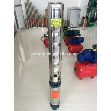 Acero inoxidable 6 pulgadas de tres fases de aceite profundo motor bien sumergible bomba de agua marca de chimpancé