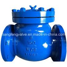 Válvula de retención giratoria de 150 libras / 300 libras Flagned RF con acero fundido