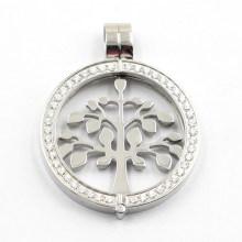 Neues Design Side Open Medaillon mit Baum des Lebens Münze für Halskette Anhänger
