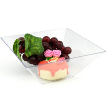 PP/PS Plastic Bowl Disposable Bowl 1L Square Salad Bowl