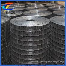 Ventes chaudes fil de fer noir soudé usine de treillis métallique