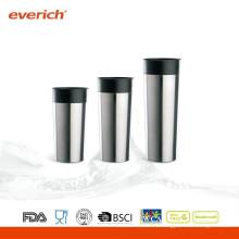 Tasse à café isolée à vide en acier inoxydable à double paroi en 2014 à style nouveau 2014 avec couvercle à bouton latéral