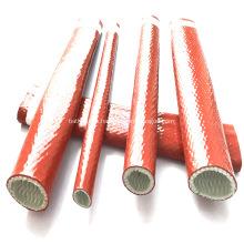 Funda de silicona recubierta de fibra de vidrio de protección contra incendios