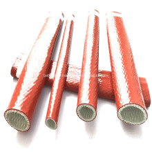Gaines en fibre de verre enduites de protection incendie en silicone