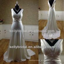 Sexy Backless belo vestido de casamento longo MB13266