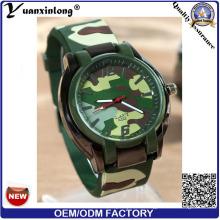 Yxl-182 Moda Militar Hombres Mujeres Reloj de Silicona Casual Reloj de pulsera de Cuarzo Logotipo Personalizado Deporte Ejército Relojes Unisex