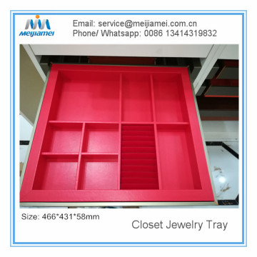 Best Quality for Interior Wardrobe Storage Drawer PU Cover Closet Jewelry Tray supply to Italy Manufacturer