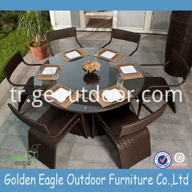 Round Aluminium Garden Dining Furniture
