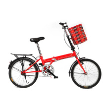 Red lingt weight folding bike of 20 inch