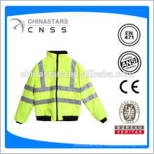 Jaqueta de segurança reflexiva, jaqueta de segurança visível, jaqueta de segurança impermeável