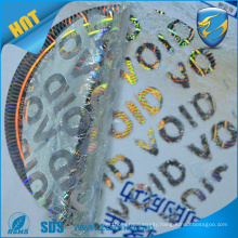 2016 hot sale void 3d hologram stickers, high dpi hologram label with uv print security feature