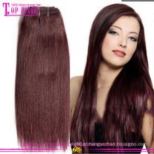 Cabelo remy europeu do weave 99v do cabelo da categoria 6a barato que tece 99j
