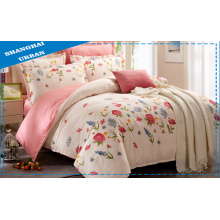 Spring and Summer 100%Cotton Floral Duvet Cover Set