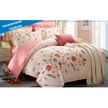 Primavera e Verão 100% algodão Floral Duvet Cover Set