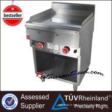 Gril de gaz d'acier inoxydable de certificat de la CE K256 pour la promotion des ventes de restaurant
