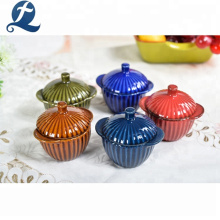 Wholesale Custom Mini Casserole Ceramic Cooking Pot Soup Pots