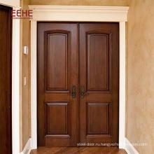 лаконичные резные двери из цельного дерева, первые двери из массива сосны