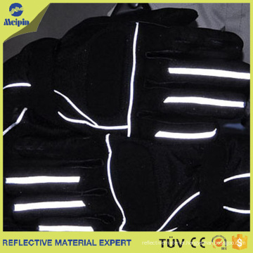 Reflective Fabric Piping Trim Without Sewing Lines