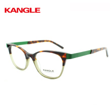 2018 combinate tortoise with light broght color acetate optical eye glasses frame