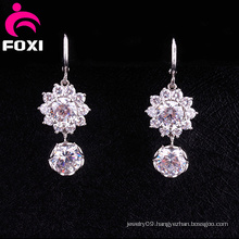 Shining Diamond Fancy Design Hanging Earrings