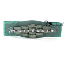 2013 Popular Rhinestones PU Elastic Belt For Woman