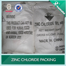 Chaleur de zinc de la batterie 98% Zncl2 Expédition rapide