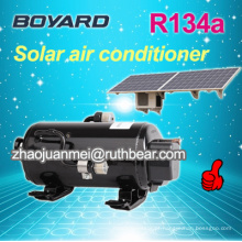 Hermético rotativo bldc carro elétrico ac compressor para baixa tensão solar condicionador de ar