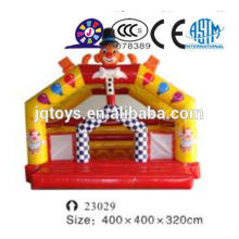 JQ23029 outdoor giant inflatable clown amusement park soft magician bounce house jumping bouncer