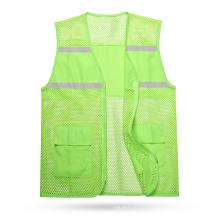 Hi Vis Reflective Safety Mesh Breathable Vest With Pockets