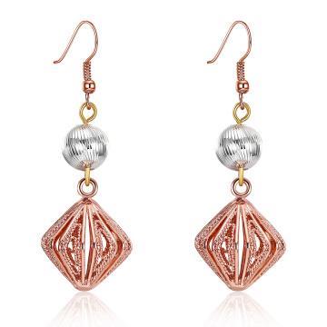 2017 New Design Bordado Pingente Eardrop Earrings Rose Gold Plated