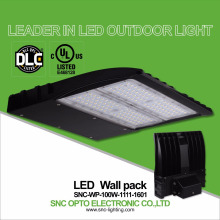 100w dlc ul listed outdoor led wall mounted light wall pack lamp IP65