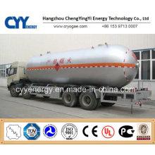 China LNG Flüssig Sauerstoff Stickstoff Argon Kohlendioxid Tank Auto Semi Trailer