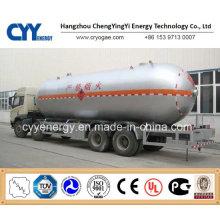 China LNG Liquid Oxygen Nitrogen Argon Carbon Dioxide Tank Car Semi Trailer