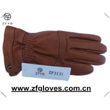 Gants de cuir à la peau de deerskin chaud hiver avec doublure en cachemire
