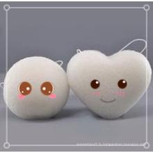Éponge Konjac 100% naturelle pour le bain / nettoyage du visage