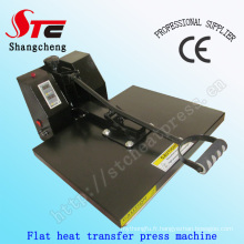 LE certificat de la 40 * 60cm plat T Shirt chaleur presse machines manuel chaleur transfert Machine T-Shirt chaleur Machine d'impression