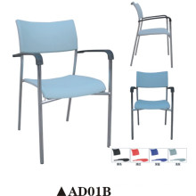 Plastic Steel Chair with Armrest Ad01b