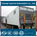 4X2 17m3 Box Van Cargo Truck with Hydraulic Tailboard