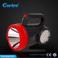 Lumière de recherche rechargeable haute puissance extérieure avec éclairage latéral