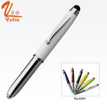 Multi Color LED Light Metal Pen pour les gens d'affaires