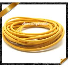 Armband-Leder-Schnur, gelbe reale lederne Schnur, echtes Kuh-Leder-Großverkauf für Art- und Weisearmband (RF050)