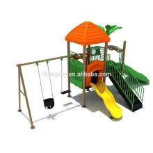 Kid's outdoor playground with slide and swing, amusement park items for sale