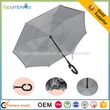 windundurchlässiger c-Griff umgedrehter doppelter Schicht umgekehrter Regenschirm