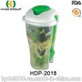 Envase de ensalada popular ecológico con tenedor (HDP-2018)