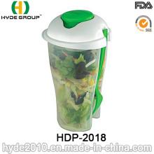 Récipient à salade écologique avec fourche (HDP-2018)