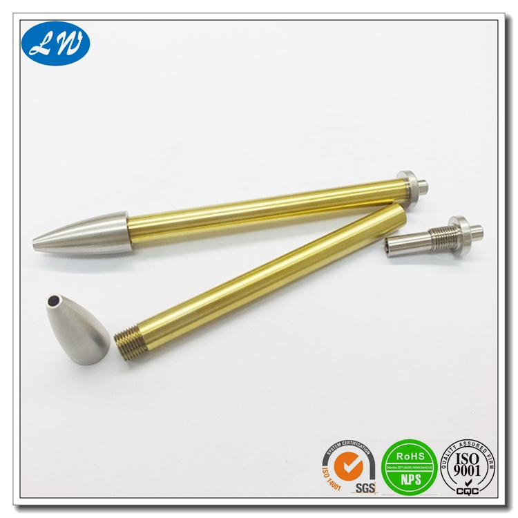 CNC Turning Pen Tubes نحاس مخرطة كيت جزء