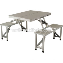 Outdoor polywood table folding camping with chairs set