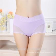 Fashiong Nuevo Diseño Sexy Mujeres Periodo Ropa Interior Ladies Menstrual Bragas Encaje Anti-fugas Panty impermeable
