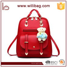 Factory Wholesale Fashion Bags Cute Backpacks PU Girl Backpacks With Toy